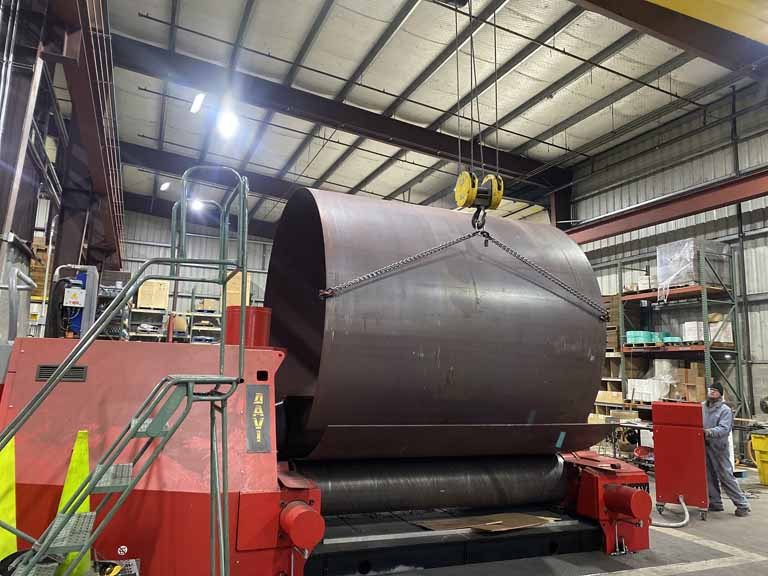 Plate Rolling Cylinders at Albina Co., Inc.