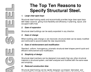 The Top Ten Reasons to Specify Structural Steel