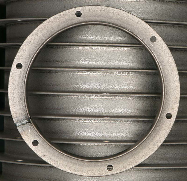 """Picture of 7"""" ANGLE FLANGE A36 (with holes)"""
