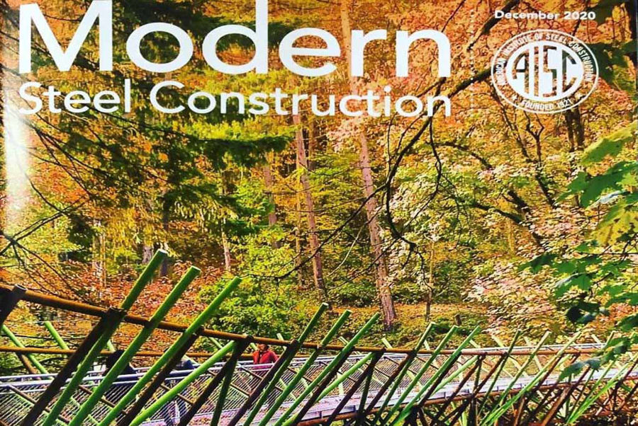 What's Cool In Steel?: December Issue of Modern Steel Features Barbara Walker Crossing Footbridge