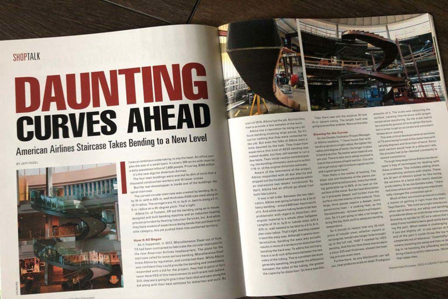 """Daunting Curves Ahead""- Article in O & M Metal Fabricator"