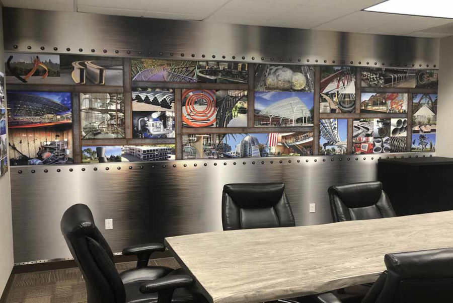 PDX Wraps Creates Another Custom Wrap for Albina Co.'s Conference Room Makeover