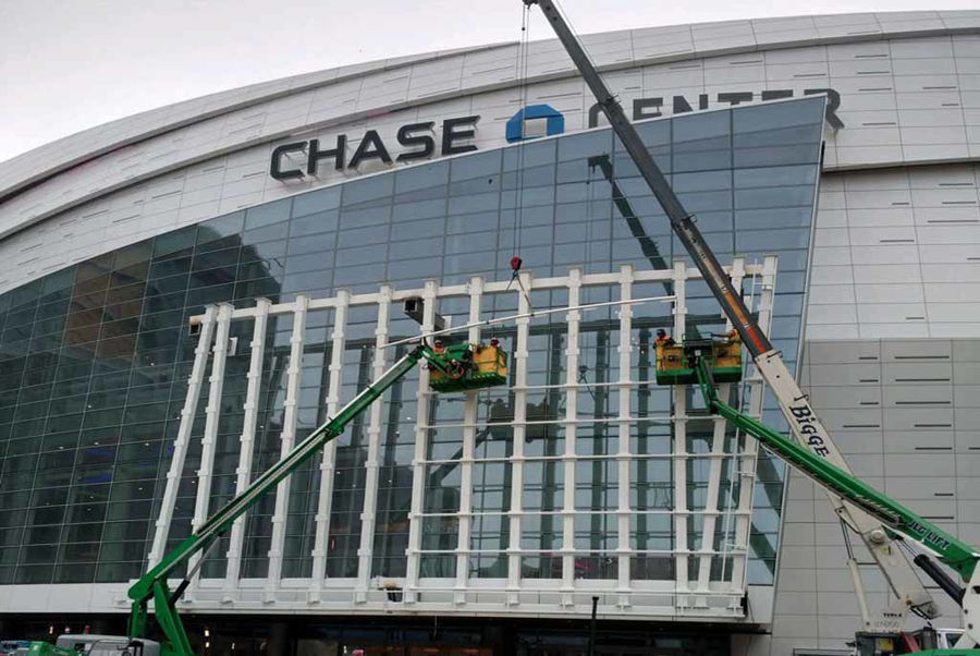 Curved Tube Steel at the Golden State Warriors Chase Center Arena