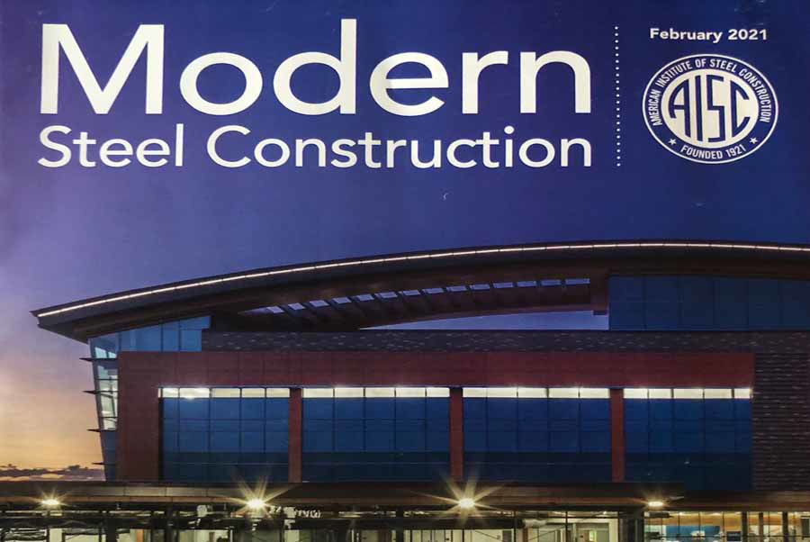 Curved Steel Roof at the UCHealth Steadman Hawkins Clinic in Denver Graces the Cover of Modern Steel