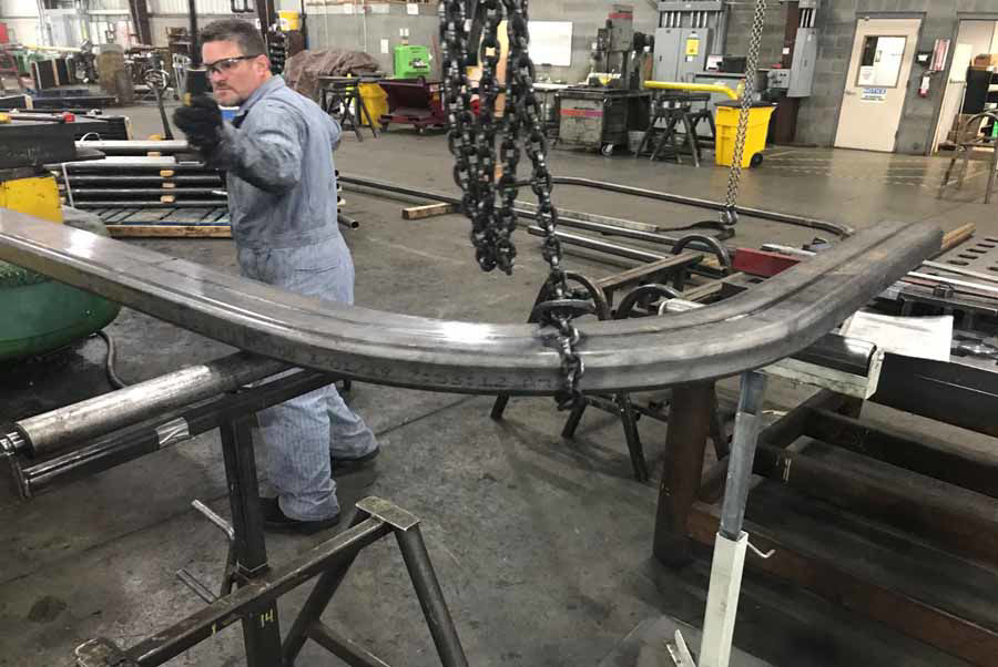 Difficult, Tight Bends Create Unique Curved Steel Vestibule Frames