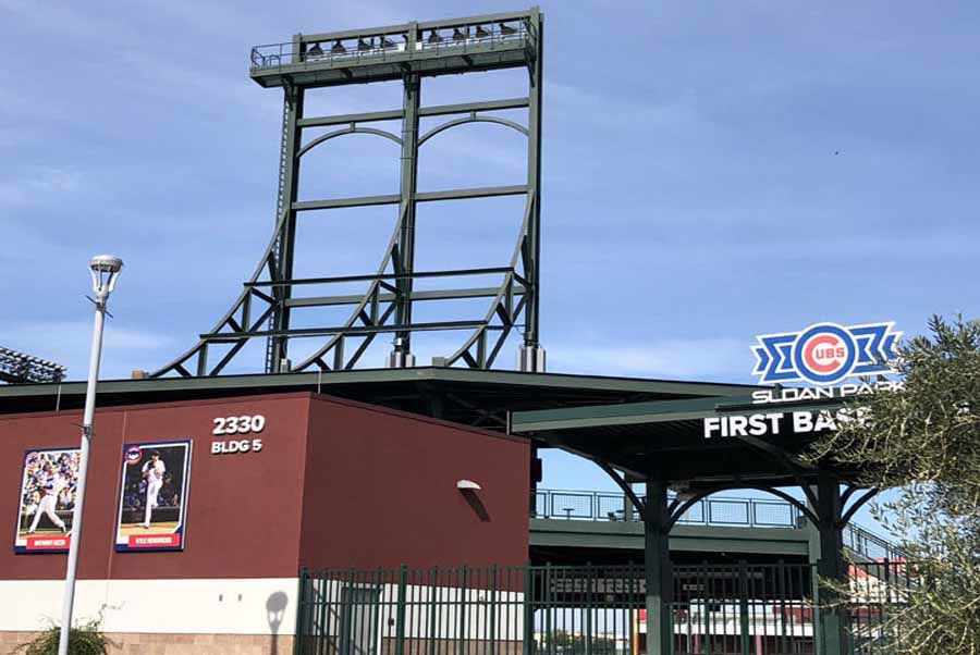 Curved Steel Gates at Chicago Cubs Spring Training Facility of Sloan Park