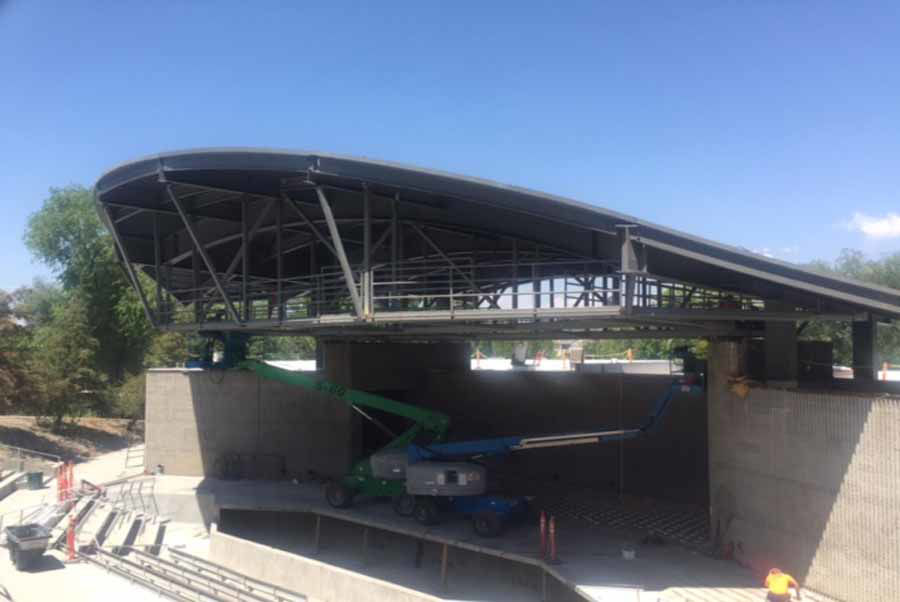 Murray Park Amphitheater Rennovations Include Curved Steel Roof Structure
