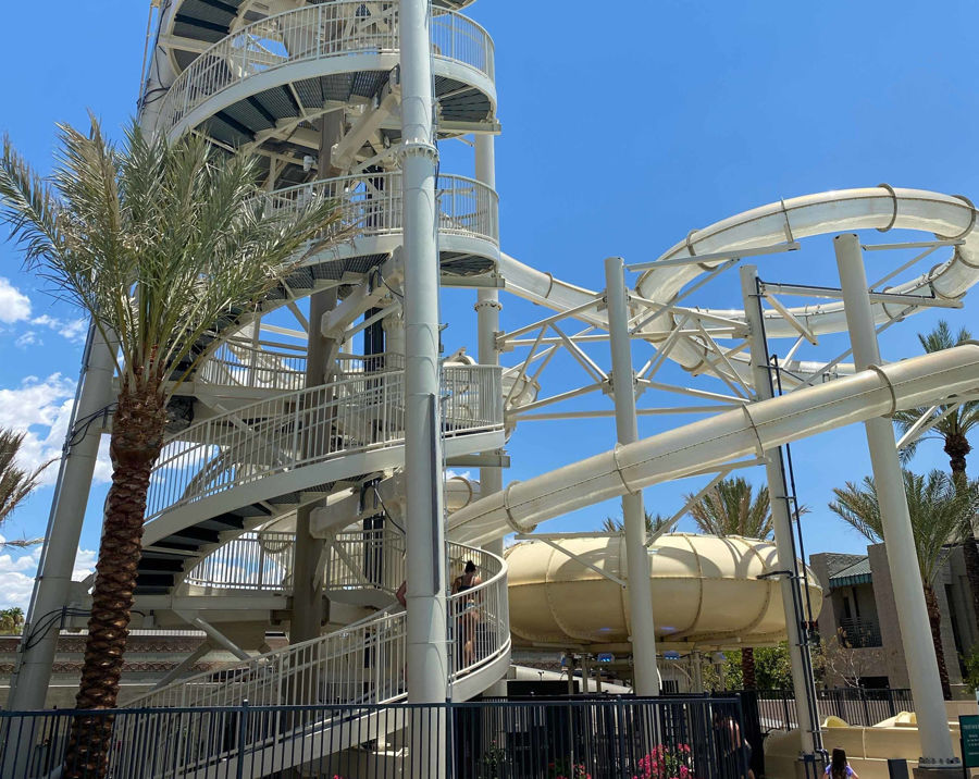 Final Installation of the Spiral Staircase at the Arizona Biltmore Paradise Pool Slides